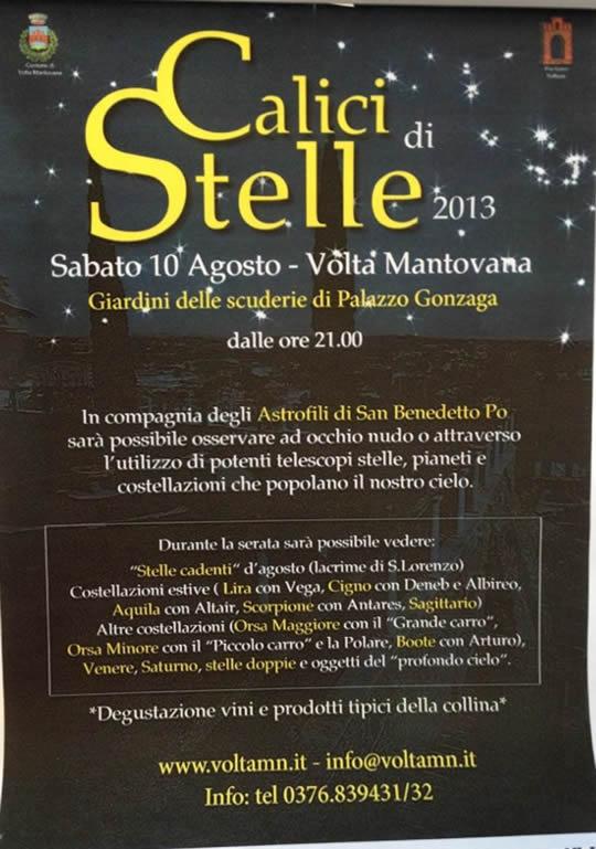 calici sotto le stelle a Volta Mantovana