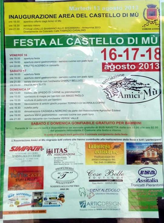 festa del castello di Mu a Edolo
