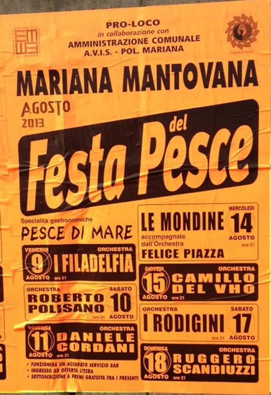 festa del pesce a Mariana Mantovana
