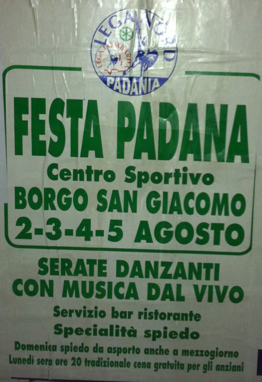 festa padana a Borgo San Giacomo