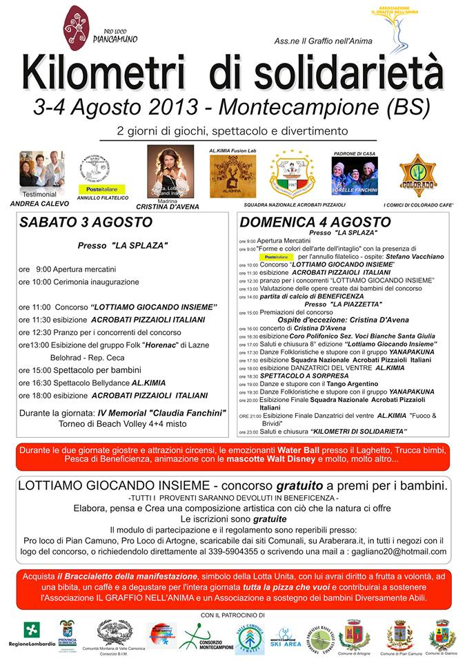 kilometri di solidarietà Montecampione