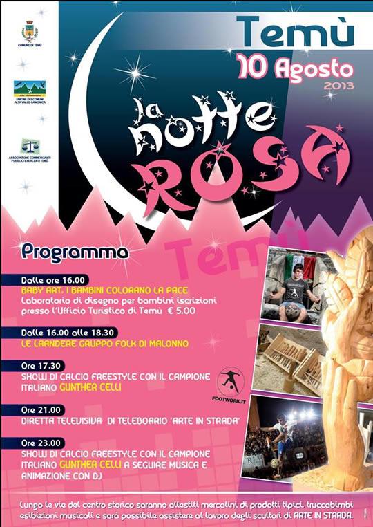 notte rosa a Temù