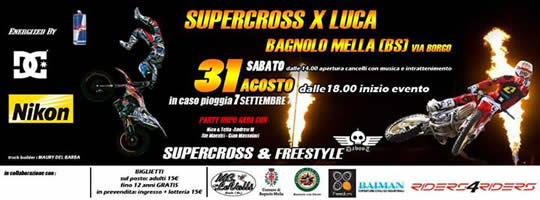 supercross per Luca