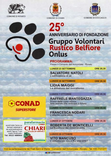 25° Anniversario di Fondazione Gruppo Volontari a Rovato