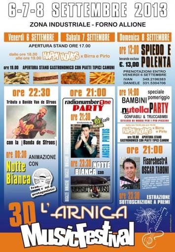 3D L' Arnica Music Festival a Berzo Demo