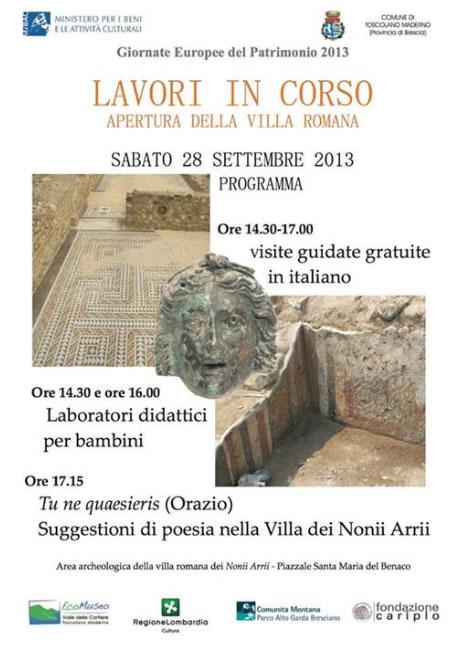 Apertura della Villa Romana a Toscolano Maderno