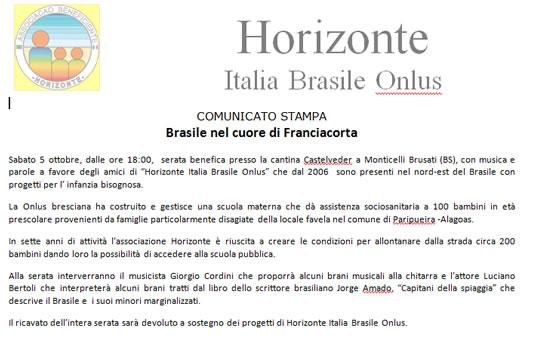 Brasile nel Cuore della Franciacorta