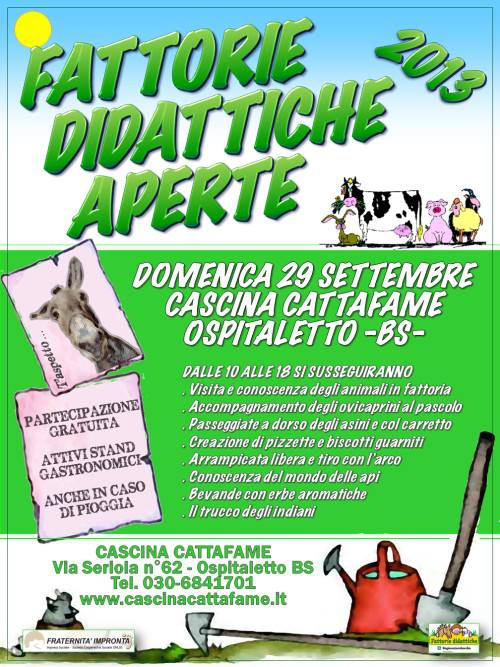 Fattorie didattiche aperte 2013 Ospitaletto