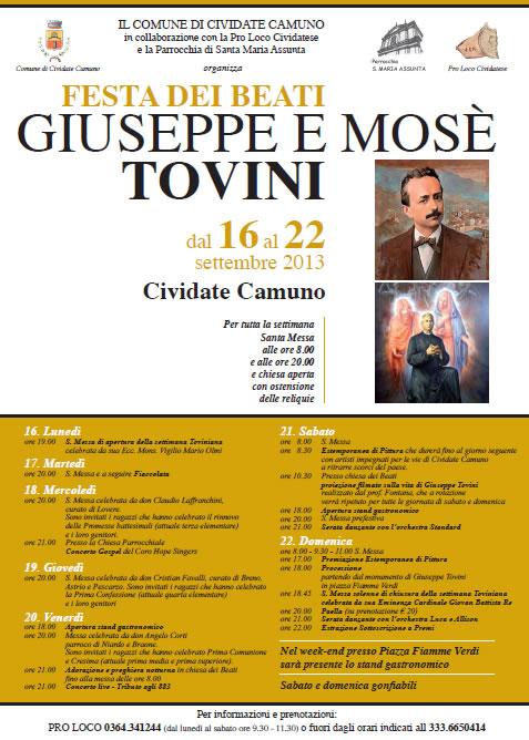 Festa dei Beati Tovini a Cividate Camuno