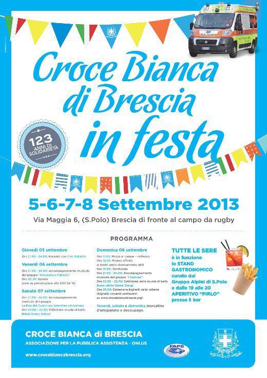 Croce Bianca di Brescia in festa