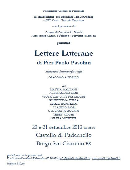 Lettere Luterane a Padernello