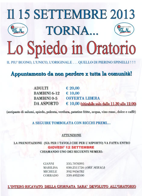 Lo Spiedo in Oratorio a Collebeato