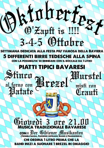 Oktoberfest alla birreria Xander