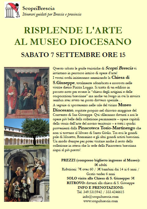 Risplende l' Arte al Museo Diocesano con ScopriBrescia