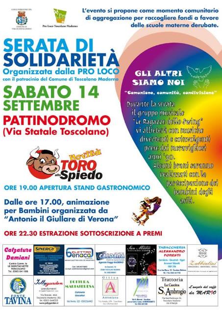 Serata di Solidarieta a Toscolano