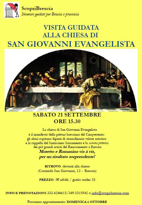 Visita Guidata alla Chiesa di San Giovanni Evangelista