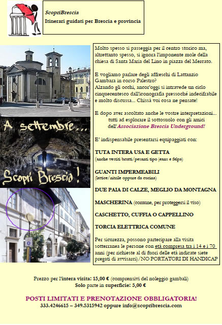 Visita Guidata con ScopriBrescia e Brescia Underground