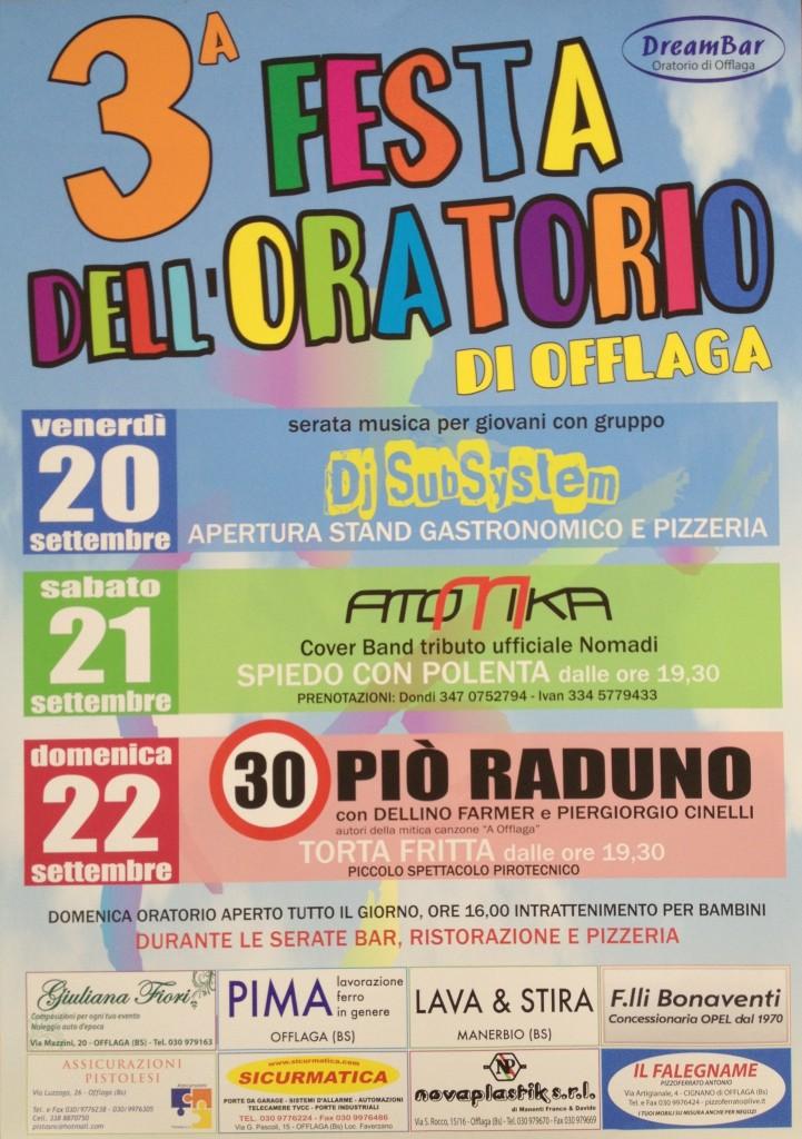 festa dell'oratorio a Offlaga