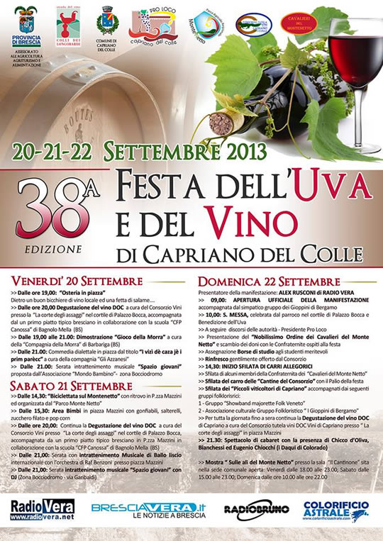 festa uva e del vino a Capriano del Colle 2013