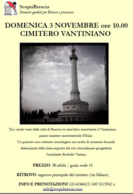 Cimitero Vantiniano con ScopriBrescia