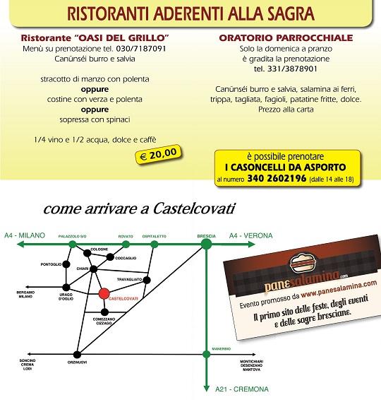 Come Arrivare - Sagra I CANUNSEI DE SANT'ANTONE Castelcovati 2014 - definitivo