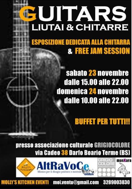 Esposizione dedicata alla chitarra & Free Jam Session a Darfo BT