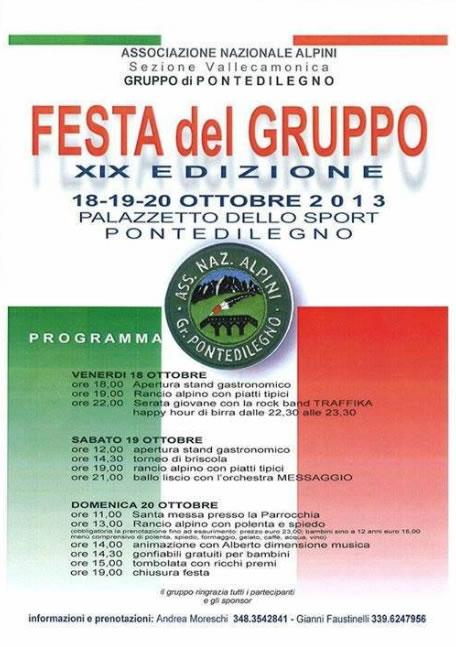 Festa del Gruppo Alpini a Ponte di Legno