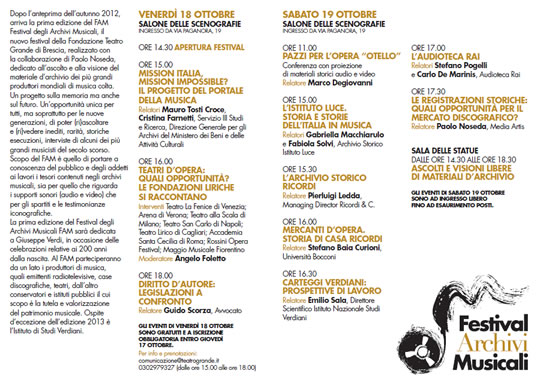Festival Archivi Musicali