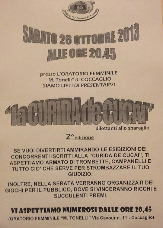 La curida de Cucai 2013 Coccaglio