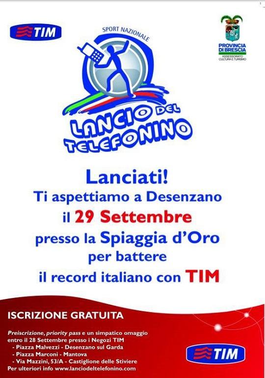 Lancio del telefonino Desenzano 2013