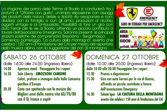 Ottobre con Gusto 2013 Darfo Boario Terme
