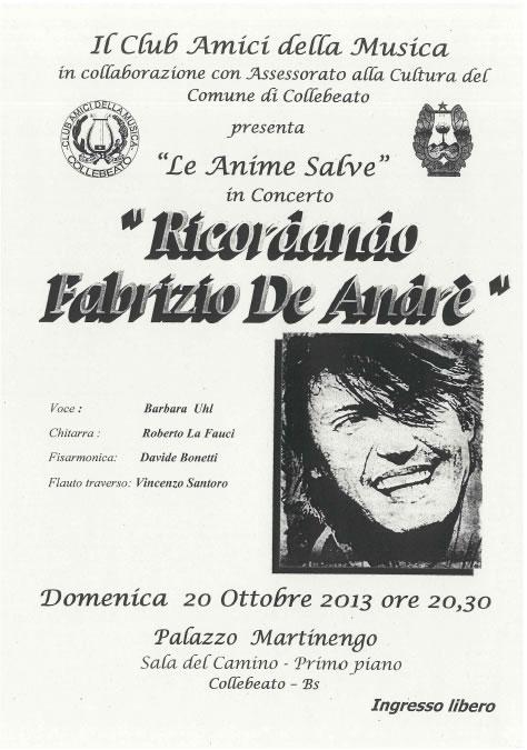 Ricordando Fabrizio De Andre a Collebeato