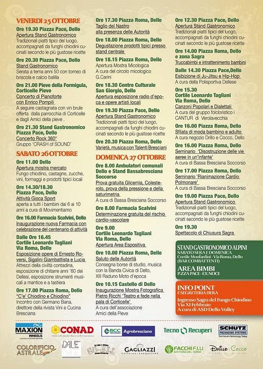 Sagra del Chiodino 2013 Programma