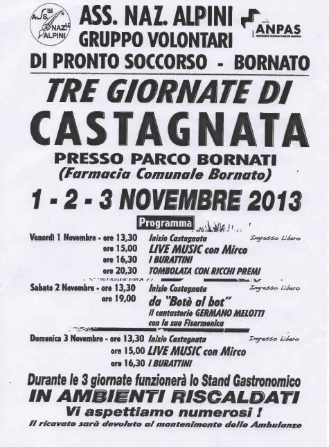 Tre Giornate di Castagnata a Bornato