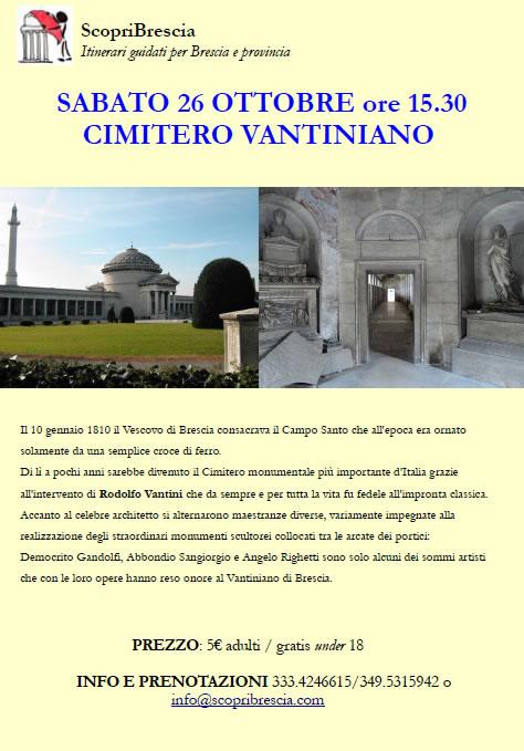 Visita Guidata con ScopriBrescia al Cimitero Vantiniano