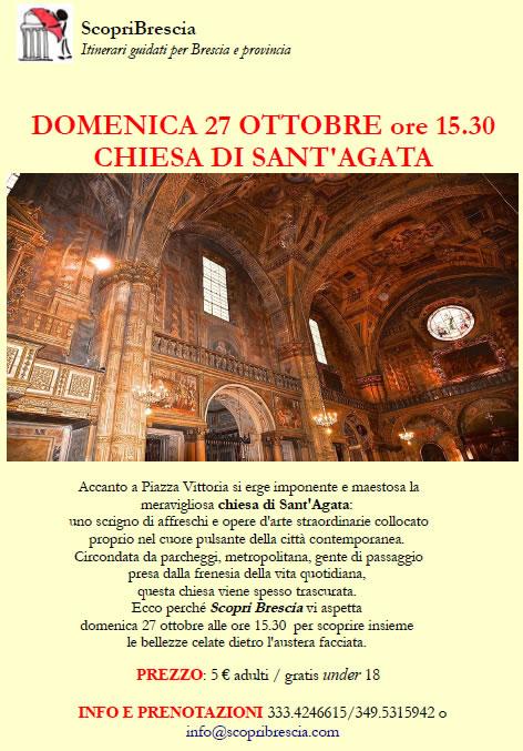 Visita Guidata con ScopriBrescia alla Chiesa di Sant' Agata