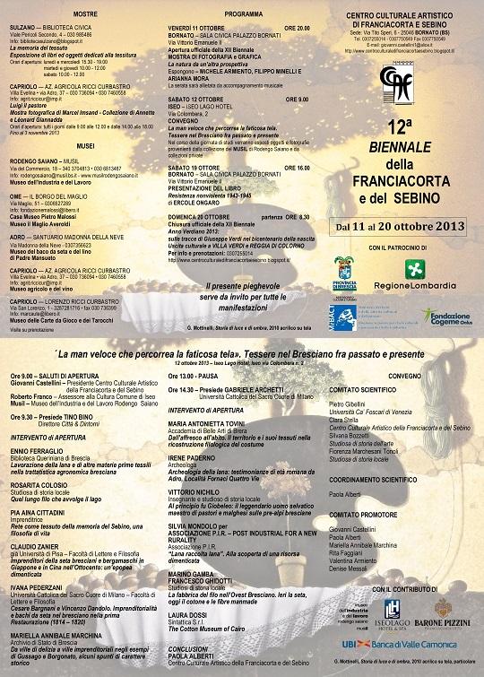XII Biennale di Franciacorta e del Sebino 2013