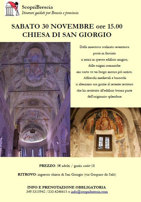 Chiesa di San Giorgio con ScopriBrescia