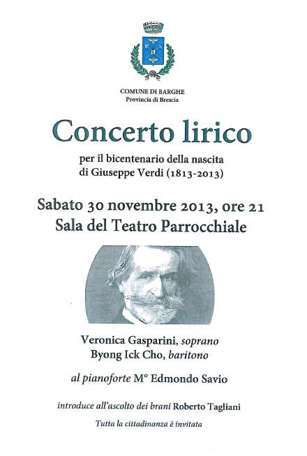 Concerto Lirico a Barghe