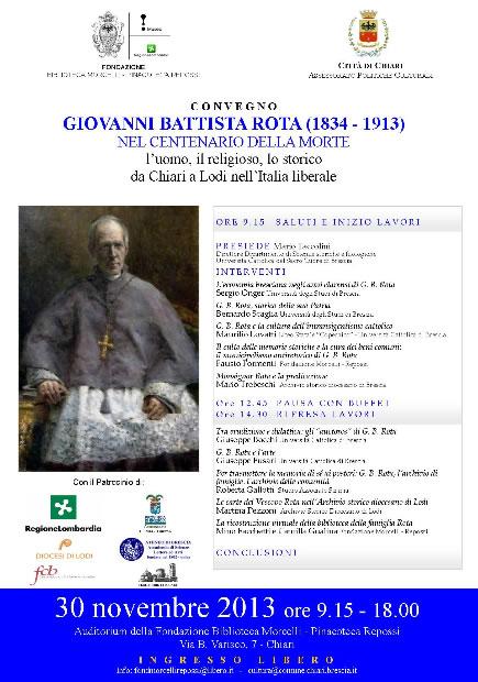 Convegno Giovanni Battista Rota a Chiari