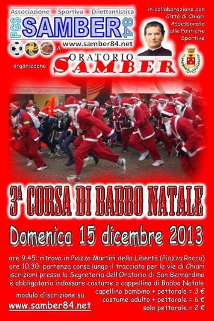Corsa di Babbo Natale a Chiari