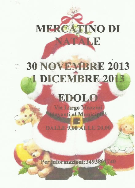 Mercatino di Natale a Edolo