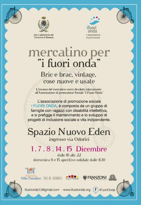Mercatino per I Fuori Onda a Brescia