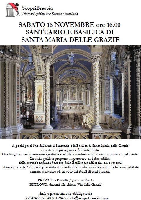 Santuario e Basilica di Santa Maria delle Grazie con ScopriBrescia