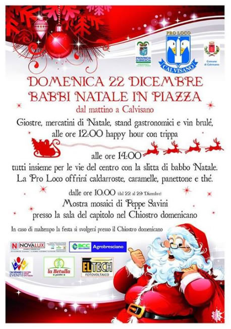 Babbi Natale in Piazza a Calvisano