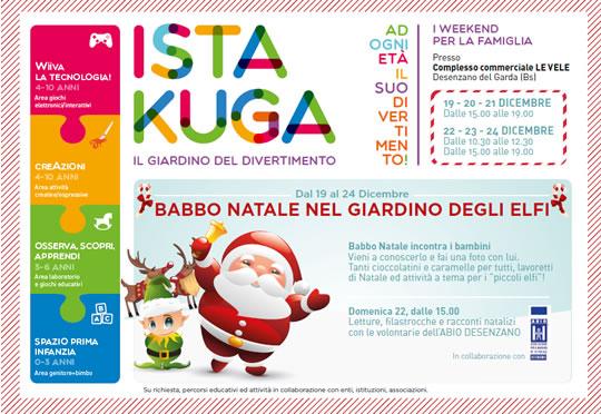 Babbo Natale nel Giardino degli Elfi a Desenzano