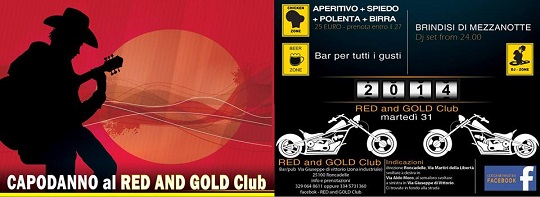 Capodanno 2014 al Red and Gold Club