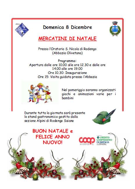 Mercatini di Natale a Rodengo Saiano