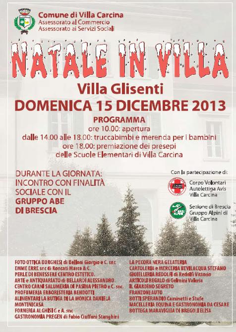 Natale in Villa a Villa Carcina