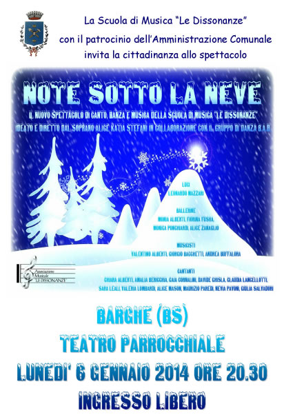 Note Sotto la Neve a Barghe